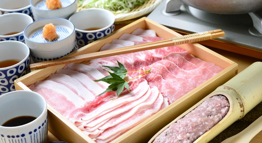 キバリ お出汁で食べる バームクーヘン豚のしゃぶしゃぶ2